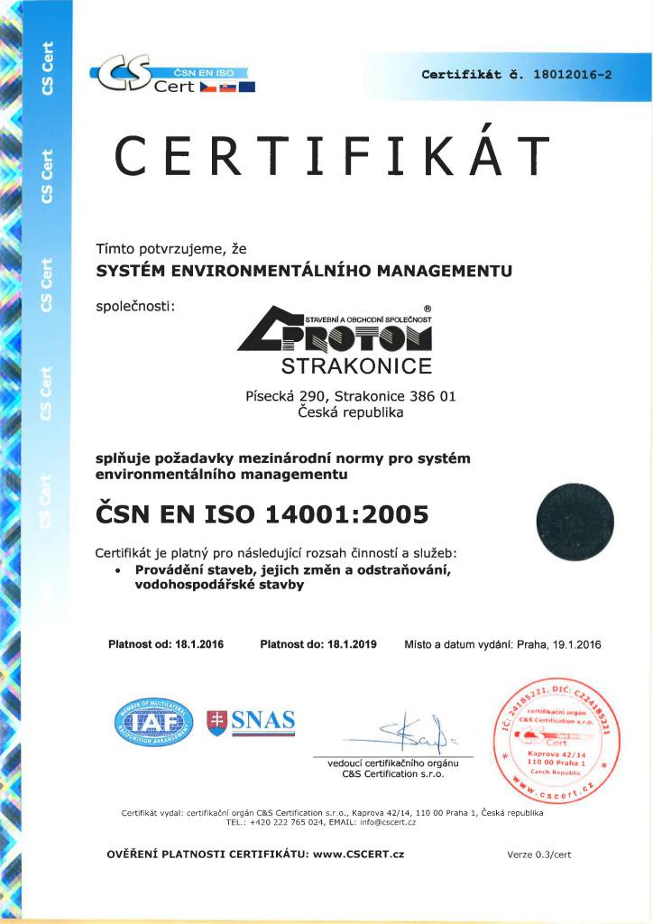 ČSN EN ISO 14001+