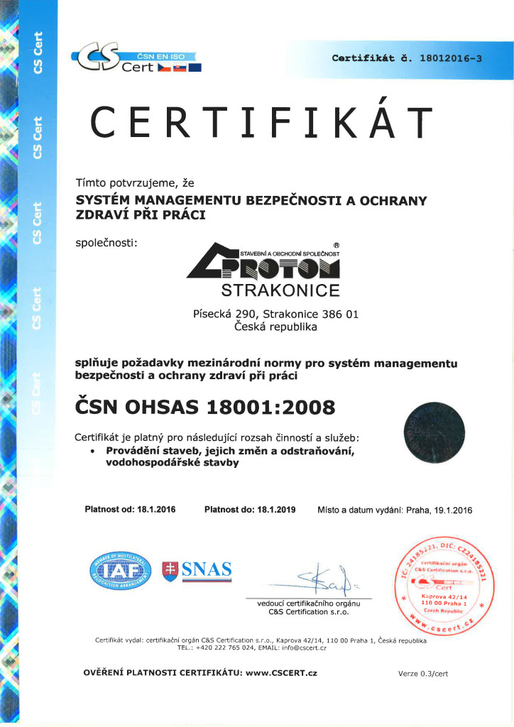 ČSN OHSAS 18001+